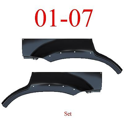 With Holes 01 07 Escape Upper Arch Set, Panel, Ford, Mercury Mariner, Both Sides