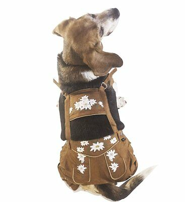 EINSZWEIDOG Oktoberfest German Dog Lederhosen, Multiple Sizes S