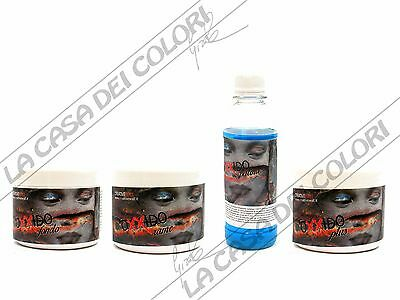 Oxxido - Kit 4 Pz 250 Ml -  Fondo + Base Rame + Patina + Plus -Effetto Ruggine