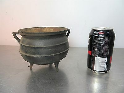 Old Vintage Antique Cast Iron Miniature KETTLE CAULDRON Pot Collectible