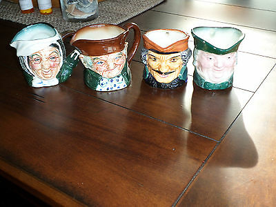 4 Vintage Antique Toby Mugs 2 Japan & 2 Occupied Japan Porcelain China Post Ww 2