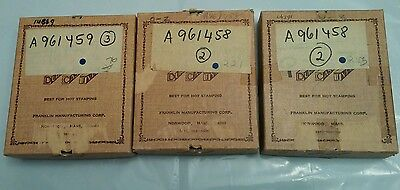(3) Vintage Boxes Franklin DuraCast Type Letters & Numbers for Imprinting Lot #3
