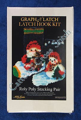 Latch Hook Kit Roly Poly Pair Christmas Stockings Graph N' Latch MCG Textiles