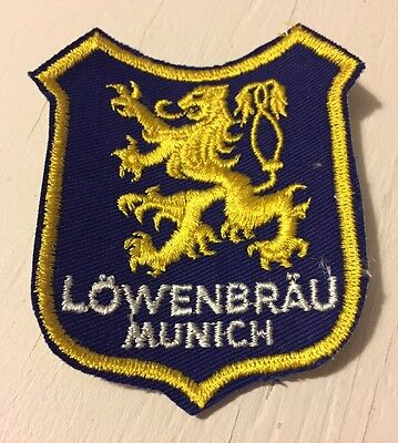 Vintage Lowenbrau Beer Machine Embroidered Uniform Jacket Patch - New Old Stock