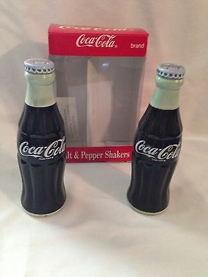 Coca-Cola Bottle Salt and Pepper Shakers with Box
