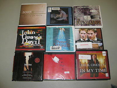 33 Assorted Audio CD Books Audiobooks Fiction Nonfiction Bulk Lot Wholesale