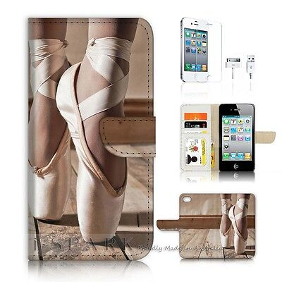( For iPhone 4 4S ) Case Cover AJ20440 Ballet Shoe