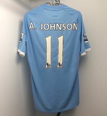 Umbro Manchester City 2010/11 Home Jersey 40 Medium Short Sleeve SS Adam Johnson