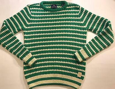 Scotch & Soda Pullover Crew Lambswool Sweater Striped Green Size Small