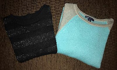 Lot of 2 Girls Gap Kids Sweaters size Medium (8) and Large (10)