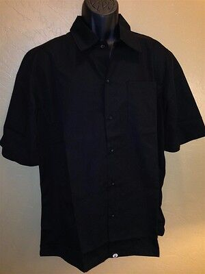 Chef Works Kcbl-blk Black Utility Cook Shirt Cool Vent Size Medium NEW