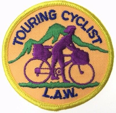 "Vintage Bicycle Tour ""Touring Cyclist LAW""  Cycling Patch New Condition"