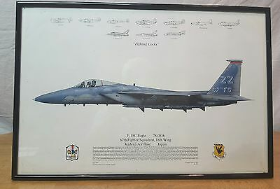 67th FIGHTER SQUADRON Fighting Cocks 18th Wing - History~ 1993 Squadron Prints