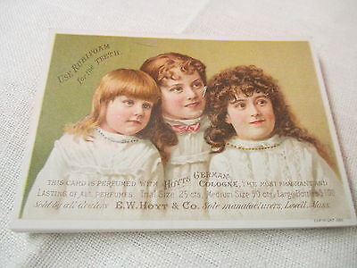 Antique Victorian Trade Card Hoyt's German Cologne Rubifoam Ballston Spa NY