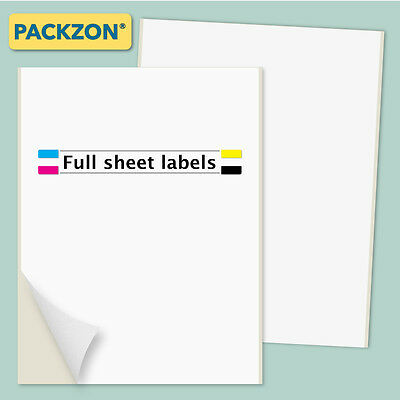 500 Shipping Labels Full Sheet 8.5x11 Self Adhesive PACKZON®