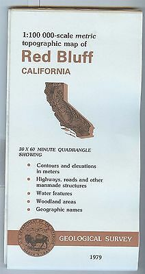 US Geological Survey topographic map metric RED BLUFF California 1979