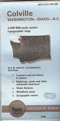 US Geological Survey topographic map metric COLVILLE Washington 1984