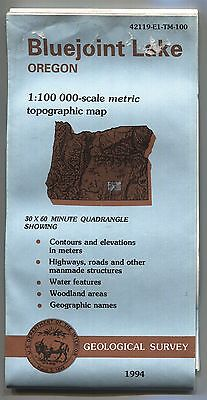 US Geological Survey topographic map metric BLUEJOINT LAKE Oregon 1994