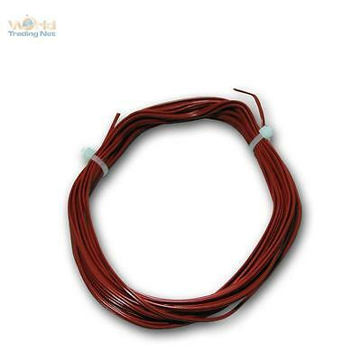 (0,36€/m) 5m Twin stranded wire 0,14mm² Copper RED Cable Braid Lütze