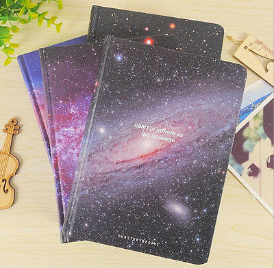 """""""Galaxy Tour"""" Exercise Book Pack of 4 Lined Notebook Big Study Diary Journal"""
