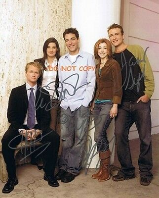 Hand Signed With Coa - How I Met Your Mother - All 5 Main Cast Autographed Photo
