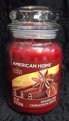 """American Home by Yankee Candle """"Sparkling Cinnamon Spice"""" 19 oz Jar"""
