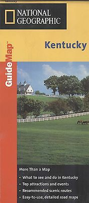 National Geographic Guide Map KENTUCKY - c.1999 - laminated
