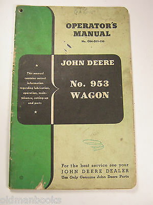 John Deere 953 Wagon Operator's Manual