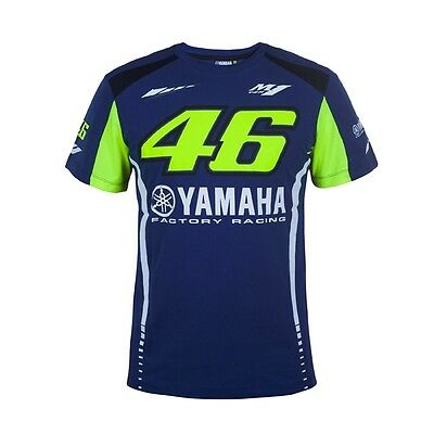 VR46 Official Yamaha Valentino Rossi Blue men's t shirt YDMTS 272009 S to 2XL
