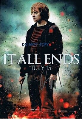 Hand Signed Photo With Coa - Rupert Grint- Harry Potter Autographed 8X10 Photo