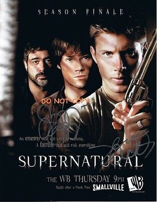 Supernatural - Hand Signed Photo With Coa - Jensen Ackles Jared Padalecki 8X10