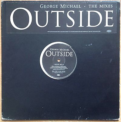 """George Michael  Outside - The Mixes  1998 UK Promo 12""""  XPR 3284"""