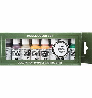 Set Vallejo Model Color-Colori Trasparenti (8x17ml) - Acrylicos Vallejo 84295517