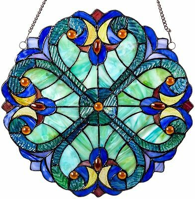Suncatchers For Windows Stained Glass Panel Tiffany Victorian Style Decor G