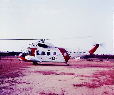 Vtg Slide 1974 Coast Guard Amphibious Helicopter HH-52A Seaguard Sikorsky S-62C