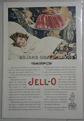 "Large, Vintage Jell-o Advertisement from 1919, ""Dreams Come True"""