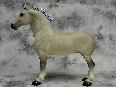 Peter Stone * Light Grey Percheron * Standing Draft Traditional Model Horse
