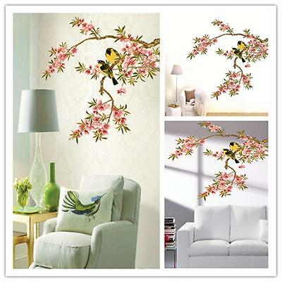 Birds Flower Tree Branch Removable Vinyl Decal Wall Sticker Art Mural  Decor WI
