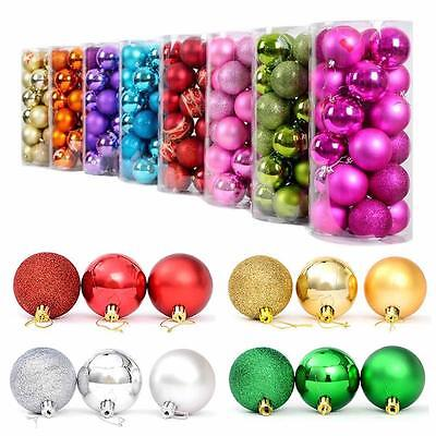 24x Christmas Balls Baubles Party Xmas Tree Decoration Hanging Ornament Decor WI