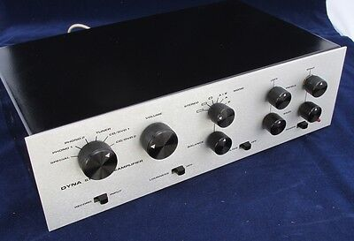 Upgraded Silver Anodize Faceplate For Dynaco Stereo Pas Tube Preamplifier