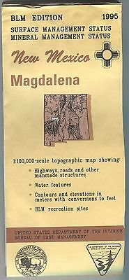 US BLM edition topographic map metric - New Mexico MAGDALENA - 1995