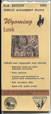 US BLM edition topographic map metric- 1993 - Wyoming LUSK +