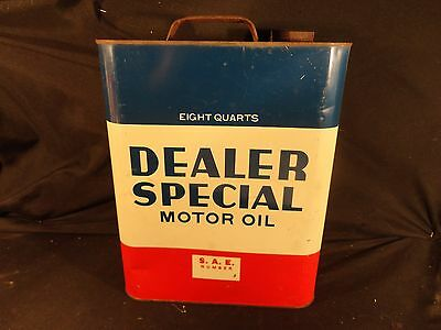 Vintage 2 Gallon Dealer Special  Motor Oil Can  Gas