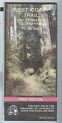 ITMB Map WEST COAST TRAIL and Carmanan Pacific Rim National Park 1992