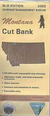 USGS BLM edition topographic map Montana CUT BANK 2002