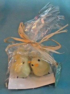 """4 Yellow Felted Easter Chicks 2"""""""