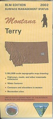 USGS BLM edition topographic map TERRY Montana 2002