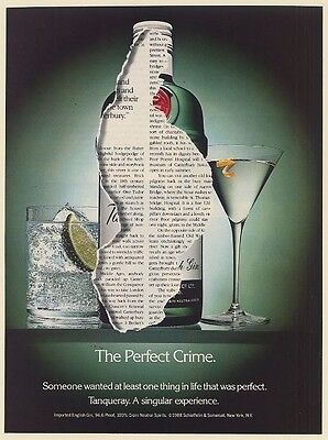 1988 Tanqueray Gin The Perfect Crime Print Ad