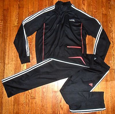 $200 ADIDAS ADiPURE MOTORCYCLE INSPIRED TRACK TOP & CLIMALITE TRACK PANTS SET