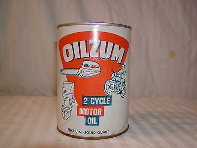 Vintage Oilzum 2 Cycle Motor Oil Can
